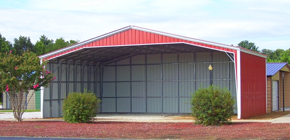 40' x 31' x 11' All Vertical 40' Wide with three sides closed and one gable end